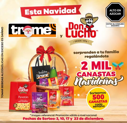 Canasta navideña Trome y Don Lucho